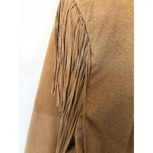 Scully Jackets & Coats - SCULLY RODEO WESTERN SUEDE LEATHER FRINGE JACKET
